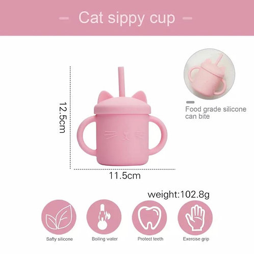 Cat Sippy Cup