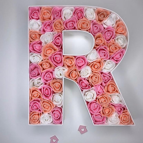 Crafter Flower Filled Letters Pink