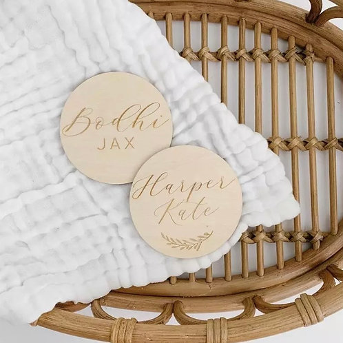 Baby Name Reveal Plaque