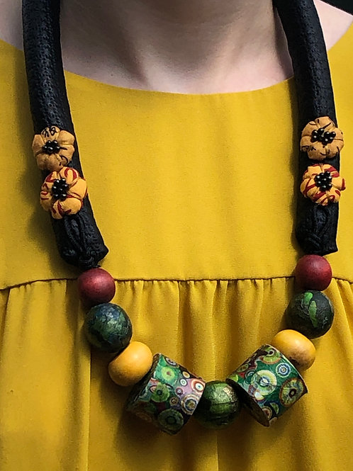 Multi-Colored Dot Bead Necklace