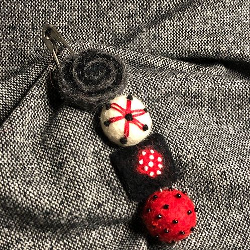 Felted Pin