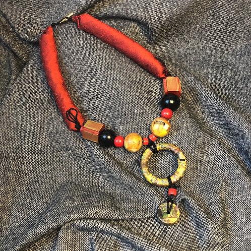 Klimt Red Necklace