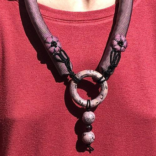 Purple Circular Necklace