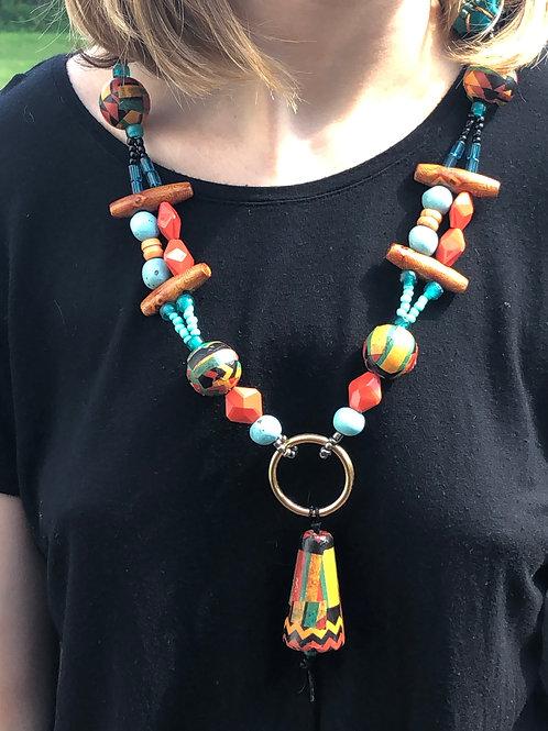Southwest Bell Pendant Necklace