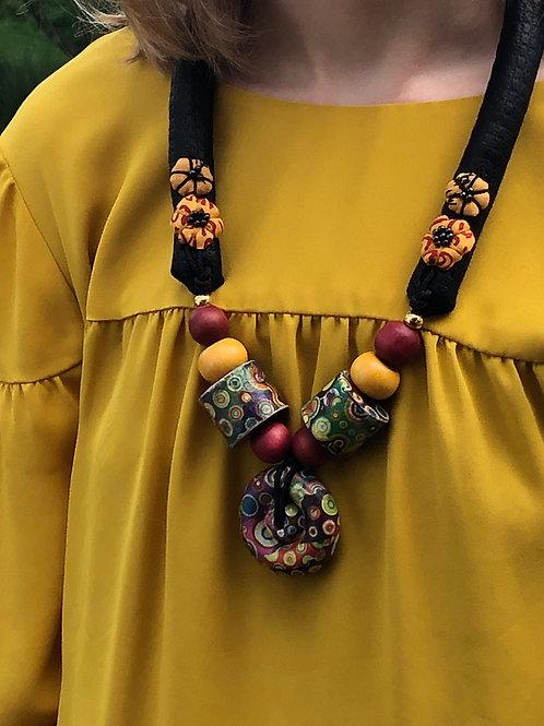 Multi-Colored Pendant Necklace