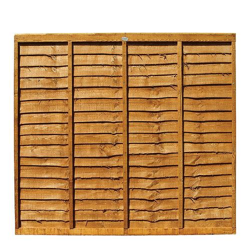 Larch Lap Fence Panel
