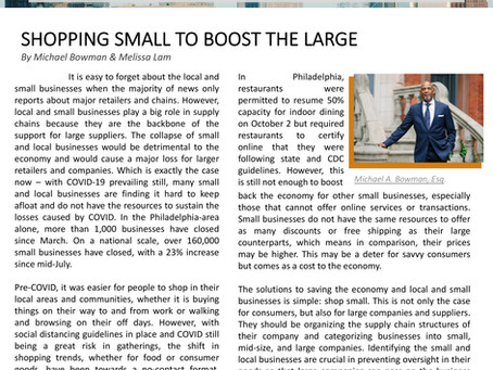 Shopping Small to Boost the Large
