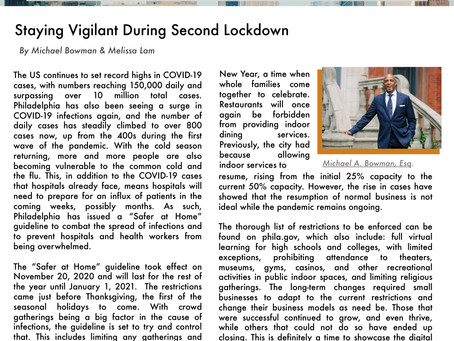 Staying Vigilant During Second Lockdown