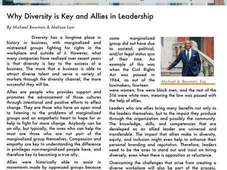 Why Diversity is Key and Allies in Leadership