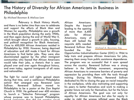 The History of Diversity for African Americans in Business in Philadelphia