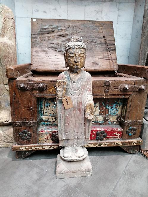 Bouddha Pierre Naturelle, coloré 50cm