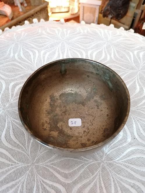 Bol chantant ancien 12.5cm 7 métaux