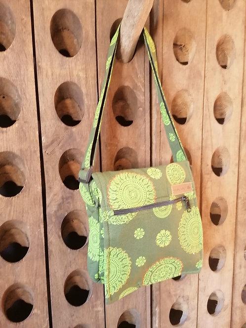 MACHA sac bandoulière coton JM08 GREEN