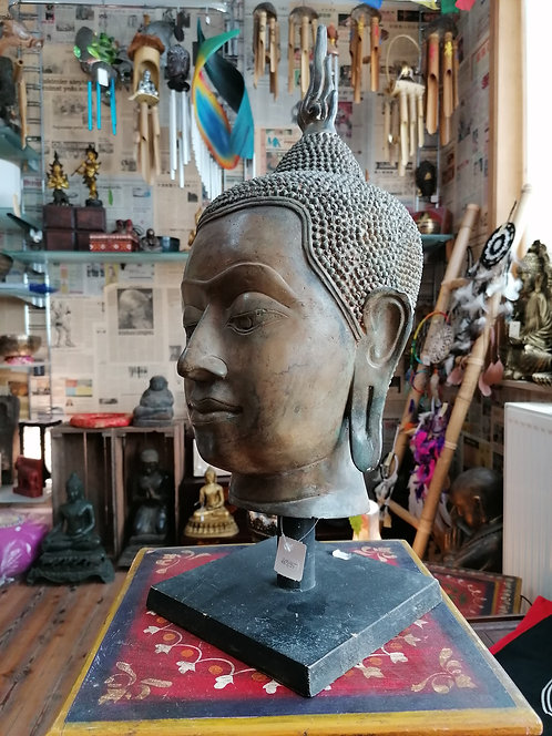 Tête Bouddha Thaï Bronze 52cm