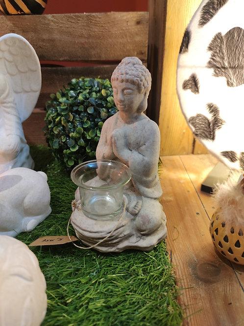 Bougeoir Bouddha en terre cuite