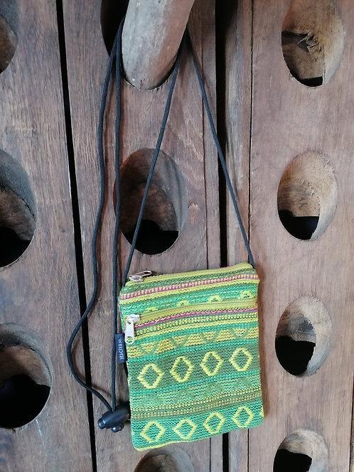 MACHA pochette bandoulière coton KI178 GREEN