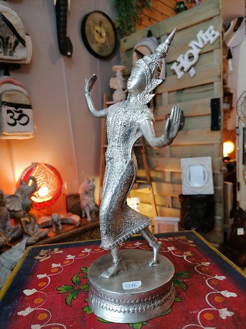 Danseuse Thaï Bronze argenté 28cm