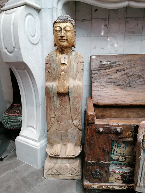Bouddha Pierre Naturelle, coloré 80cm