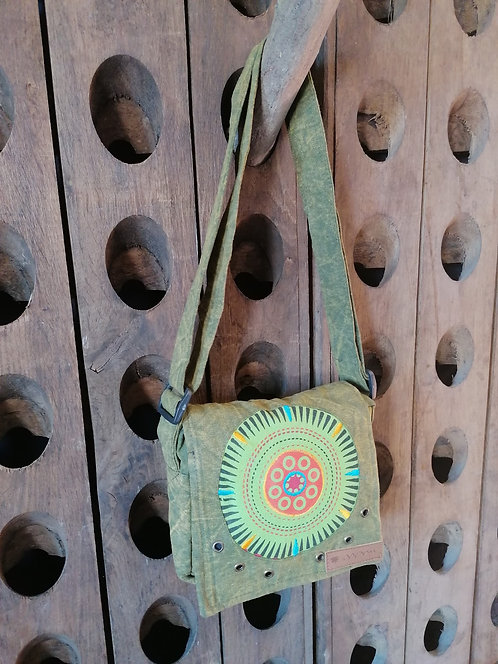 MACHA sac bandoulière coton JM01 GREEN