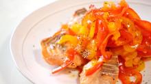 鮭とパプリカのオイスターマリネ