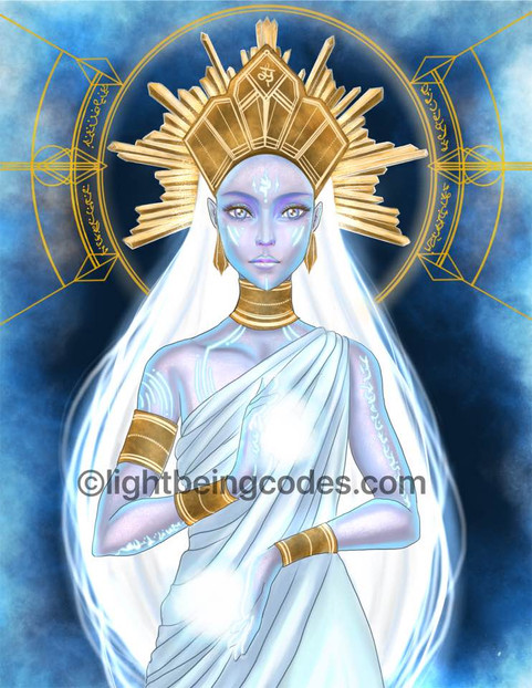 Light Code Activation Art by the Power of the Atlantean High Priestess