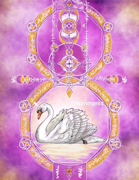 Light Code Activation by the Power of the Swan