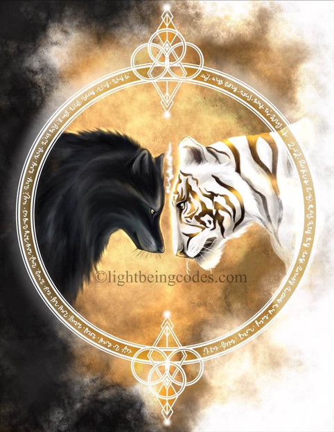 Light Code Activation by the Power of the Wolf and Tiger for Laara and Stewart