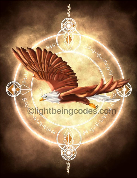 Light Code Activation Art by the Power of the Eagle 🦅