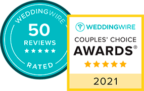 WeddingWire Review and Couples Choice Awards Badges