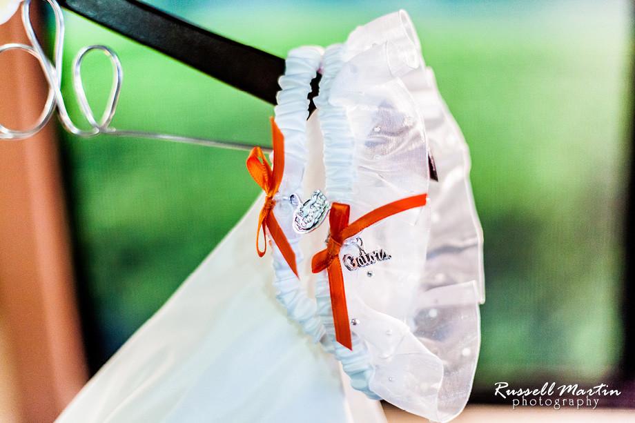Florida Gator bridal garters