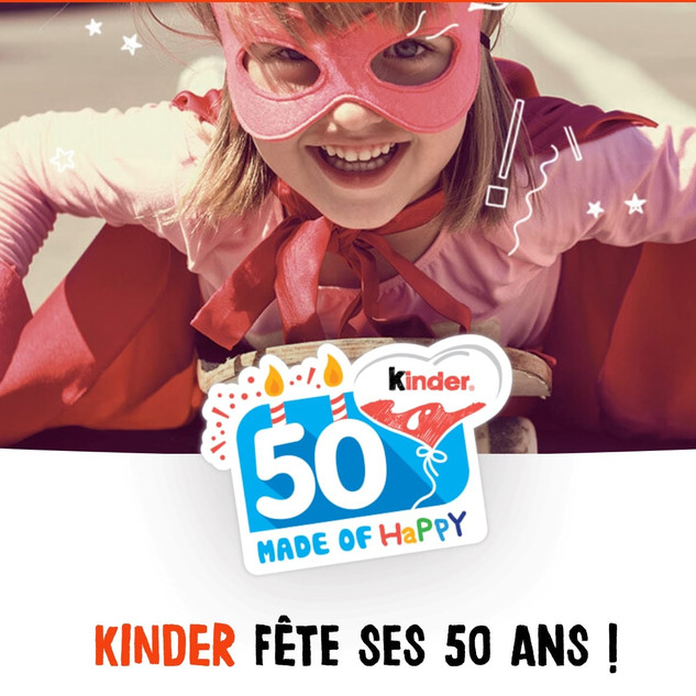 Kinder is celebrating its 50th birthday this year! Kinder asked us to  celebrate this special occasion with press and influencers!