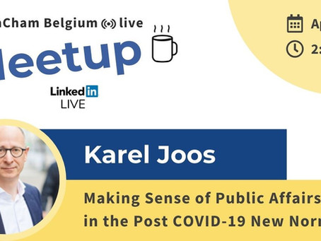 Karel Joos' meetup: Making Sense of Public Affairs in the post COVID-19 New Normal