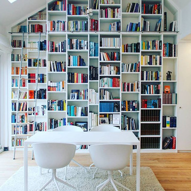 Look at this dream library! 😍☁🌈 _cambe