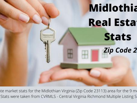 Midlothian VA Real Estate - Zip Code 23113 - Market Stats