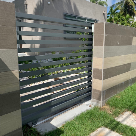 Aluminium Slide Mode Gate 30