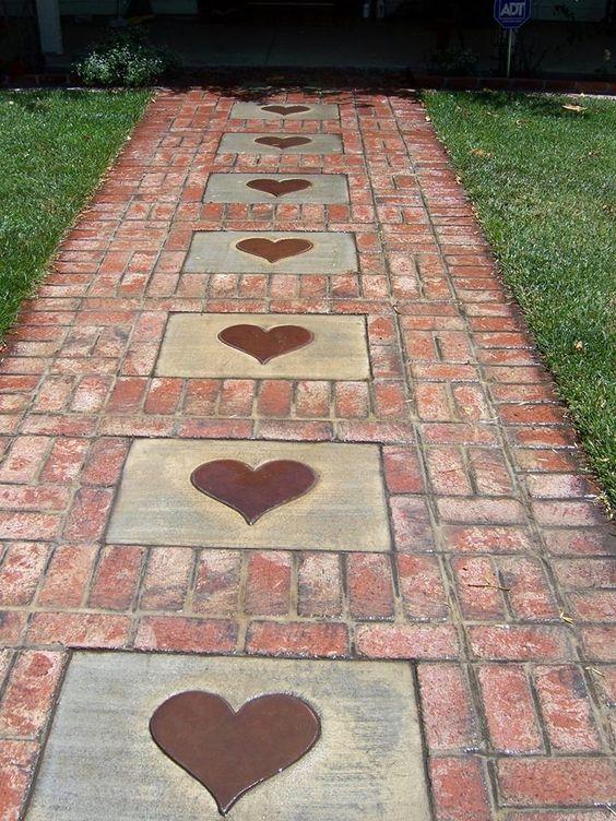 allee de jardin coeur
