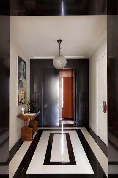 sol rectangle noir et blanc
