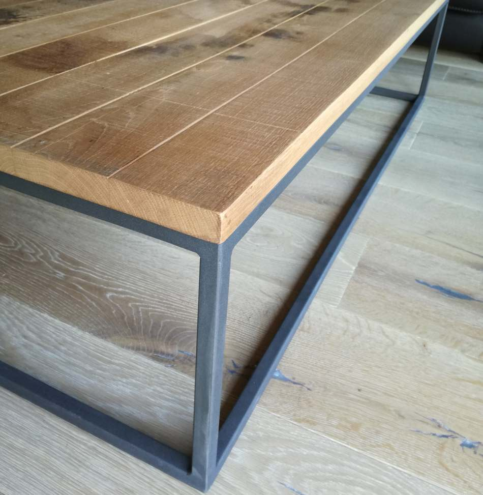 table basse bois rabote