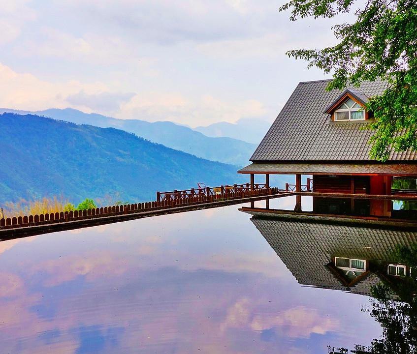 piscine en pleine montagne