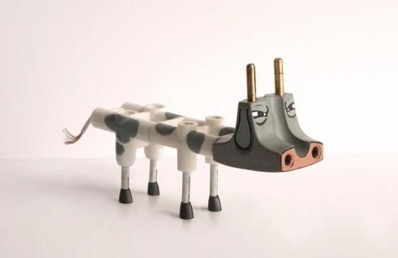 domino electrique vache