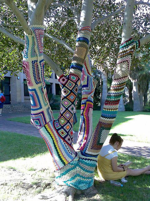 decor de jardin arbre crochet