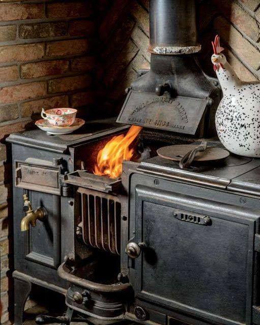 piano de cuisson rustique