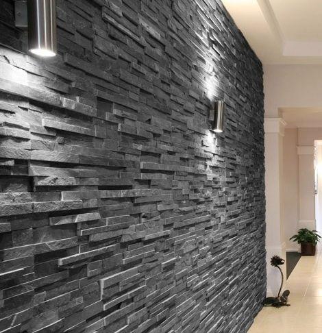 mur en parement gris