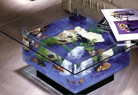 aquarium table basse