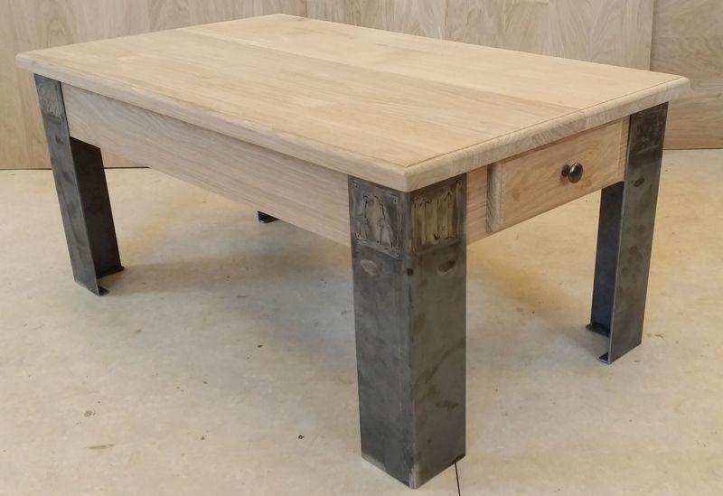 table salon Loft fer tiroir