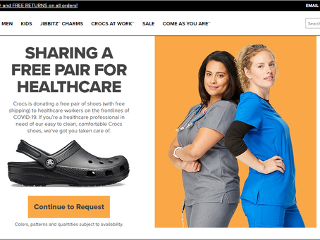 Crocs is donating free shoes to healthcare workers!