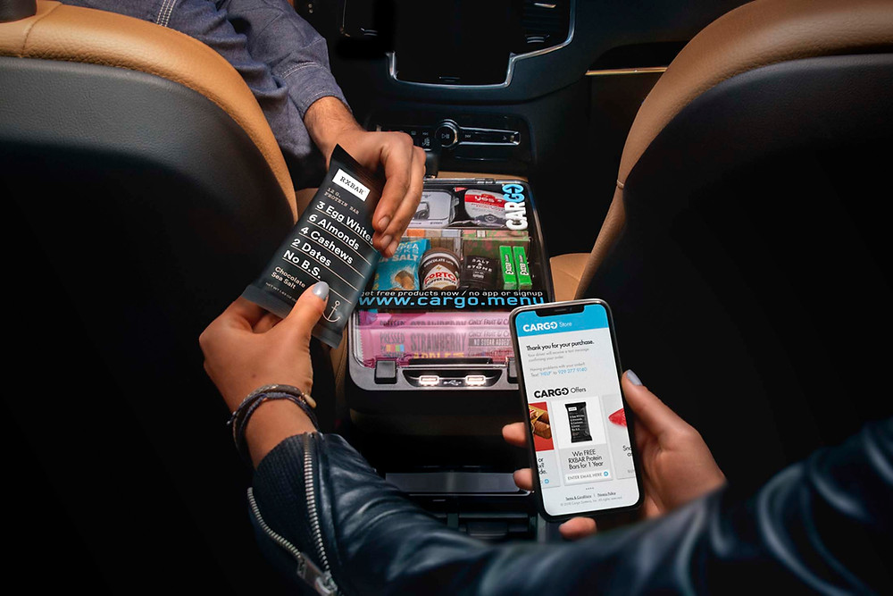 Cargo inside an Uber ride