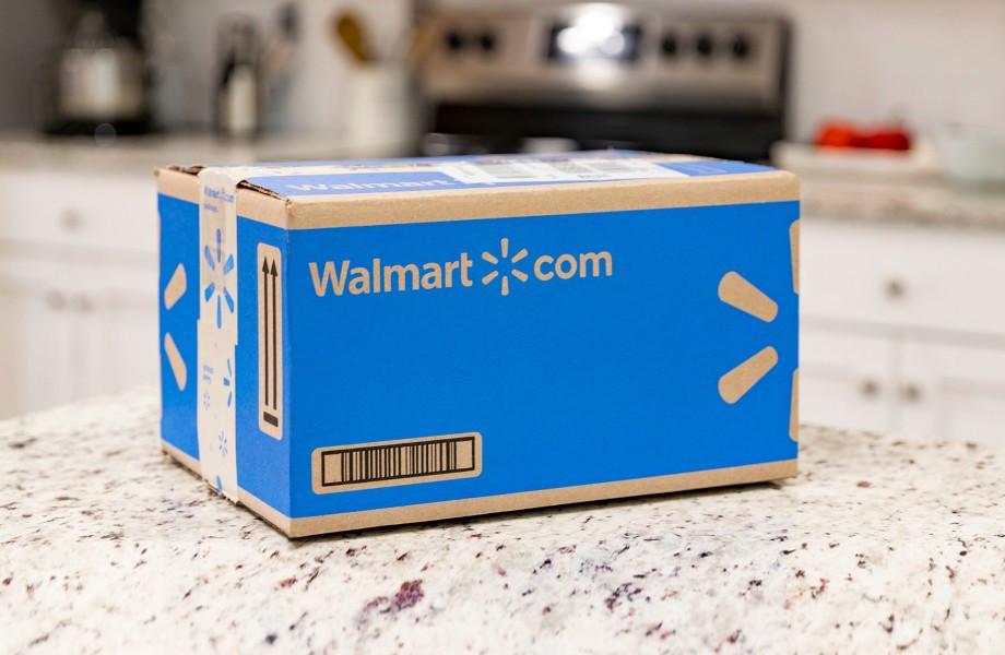 a walmart box