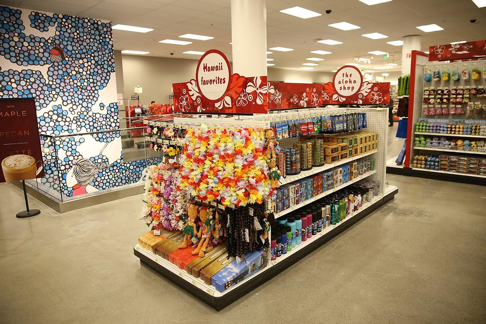 Inside a small-format Target in Honolulu, HI