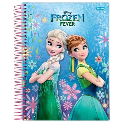 Caderno Frozen Fever 10x1 - 200 Folh